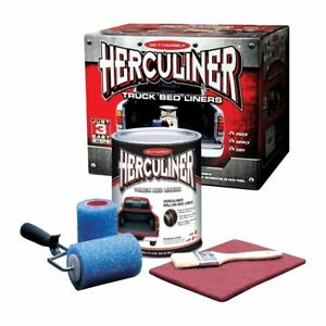 Herculiner Hcl0b8 Truck Bed Liner Kit For Pick Up Truck Beds Black