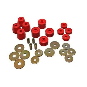 Energy Suspension 5 4101r Body Cab Mount Set Red For W100 Pickup D100 Pickup