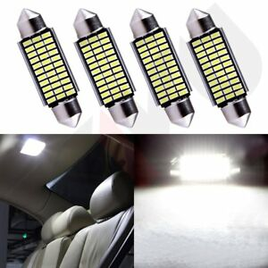 4x 42mm White 33smd Led Festoon Canbus Interior Dome Map Light Bulbs 6411 578