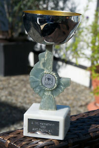 Very Nice Vintage Automobile Cup Trophy 4 Int Rally Amc Peiting 1989