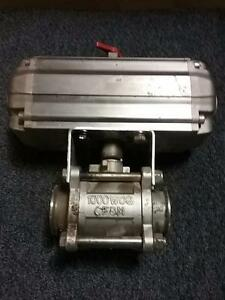 Valbia Fnw Model Da 100 Pneumatic Actuated Stainless Ball Valve Sanitary