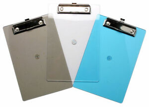 A4 Clear Blue Imac Tinted Clipboard Folder Pack Of 12