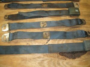 1967 Chevrolet Chevelle Ss 396 Turquoise Seat Belt Incomplete Set