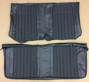1969 Camaro Deluxe Convertible Rear Seat Covers Black S Pui 69ds10vs