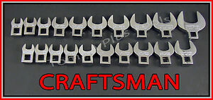 Craftsman 20pc Lot Full Polish Sae Metric Mm Crowfoot Crowsfoot Wrench Set