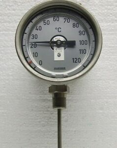 Thermometer 0 120 C With Inductive Sensor rueger swiss Made bimetallic Nos