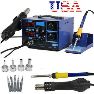 2 In 1 Soldering Iron Rework Stations Smd Hot Air Gun Desoldering Welder 862d K
