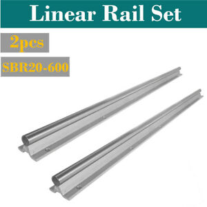 Sbr20 600mm 20mm Fully Supported Cnc Router Linear Motion Rail Shaft Rod