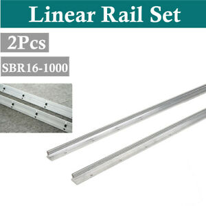 16mm Fully Supported Sbr16 1000mm Linear Motion Rail Shaft Rod Slide Rods
