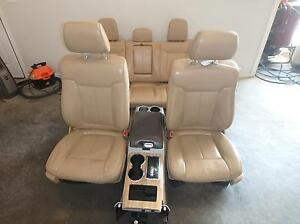 11 14 Ford F150 Front Rear Seat Console Tan Leather Power Heated Cooled Lariat