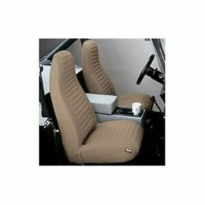 Bestop 29227 04 Seat Cover Set Front High Back Seat Tan Fits 1980 1983 Jeep Cj5