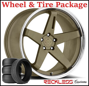 22 Blaque Diamond Bd21 Concave Bronze Wheels And Tires Fits Dodge Charger