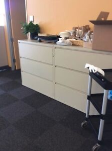 Lot Of 2 3 Drawer Lateral File Cabinets 30 wide By Herman Miller Meridian