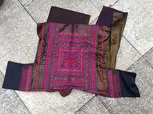 Vintage Chinese Embroidered Skirt Ethnic Folk Costume Miao Hmong Minority Dress