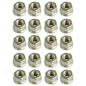 Set Of 20 Replacement Lock Nuts Fits On Caterpillar Cat Exhaust X20 C15 3406