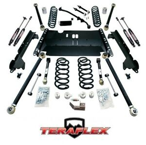 Teraflex Tj 3 Enduro Lcg Long Arm Lift Kit W 9550 Shocks 97 06 Jeep Wrangler