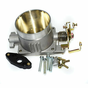 Polished Throttle Body 75mm 75 Mm For 96 04 Ford Mustang Gt 4 6l Sohc Direct Fit