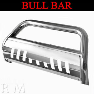 Chrome Bull Bar Fit 2009 2019 Dodge Ram 1500 Front Grille Guard With Skid Plate