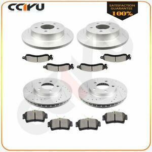 For 99 04 Ford Mustang Front Rear Brake Rotors Ceramic Pads Drill And Slot