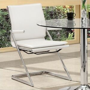 Zuo Lider Plus Conference Guest Chair In White set Of 2
