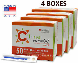 Citrine 5 Sodium Fluoride Varnish Caramel 0 4ml 200 Unit dose Packs Dental