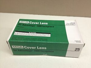 Box Of 25 Msa Cover Lens For Advantage 1000 Gas Mask Facepiece Clear 813832