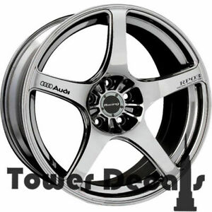 5x Audi A3 A4 A5 A6 A7 A8 Tt S4 8 Quattro Wheels Rim Vinyl Decal Accessory