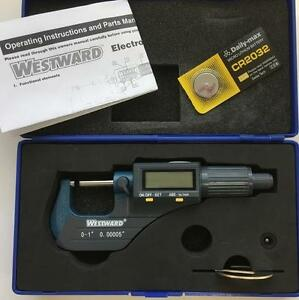 Westward 4ku89 Electronic Micrometer 0 1 0 25mm Range 00005 0 001mm Resolut