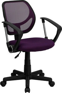 Mesh Back Matching Mesh Fab Seat Home Office Desk Task Chairs With Arms 8 Colors
