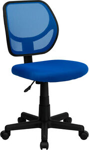 Armless Mesh Back Matching Mesh Fab Seat Home Office Desk Task Chairs 8 Colors