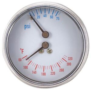 Boiler Gauge Round 0 75 Psi 60 To 320 F 4cfc5