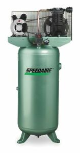 Speedaire 1 Phase Vertical Tank Mounted 2hp Electric Air Compressor 30