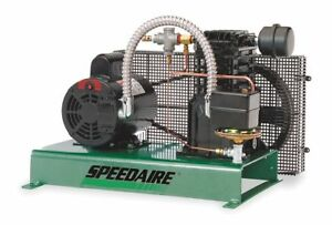 Speedaire 1 Phase Tankless Base Mounted 2hp Electric Air Compressor 40 Psi