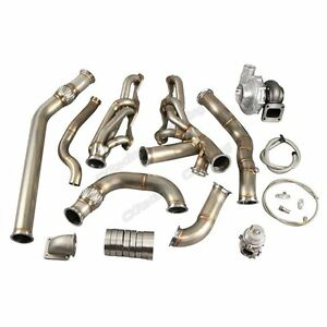 Cxracing Turbo Header Kit For 68 72 Chevrolet Chevelle Sbc Small Block Engine