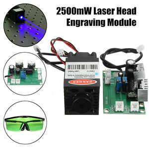 Focusable 1 6w 450nm 12v Blue Laser Diode Module Ttl Carving Engraver Goggles