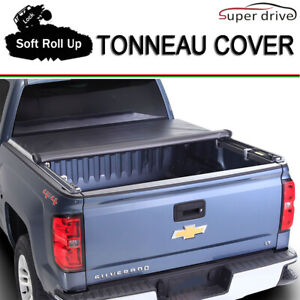Fits 2016 2019 Toyota Tacoma Lock Soft Roll Up Tonneau Cover 6ft 72 Short Bed
