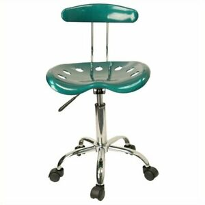 Scranton Co Computer Task Office Chair Seat In Green And Chrome