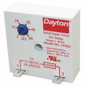 Dayton Encapsulated Timer Relay Function On Delay Status Indicator None 1a