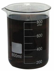 Beaker Low Form Glass Capacity 800ml Graduation Subdivisions 100ml 5ygz6