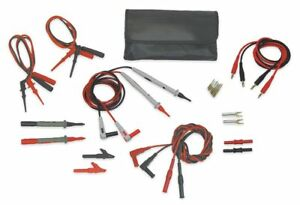 Test Lead Kit For Use With Multimeters And Clamp On Ammeters 4wre4