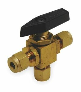 Brass Comp X Comp X Comp Mini Ball Valve 1wmw4