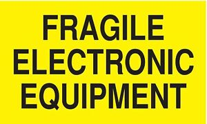 Shipping Labels Fragile Electronic Equipment Legend Paper Adhesive Back 5