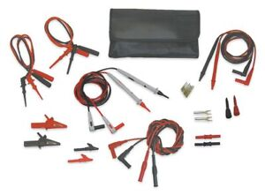 Test Lead Kit For Use With Multimeters And Clamp On Ammeters 4wre3