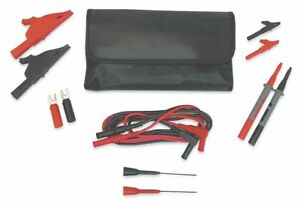 Test Lead Kit For Use With Multimeters And Clamp On Ammeters 4wre2