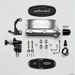 Wilwood 261 13270 p Aluminum Tandem Master Cylinder Kit With Bracket And Valve