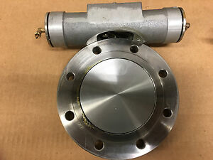 High Vacuum Research Chamber Butterfly Gate Valve Air Actuated 2