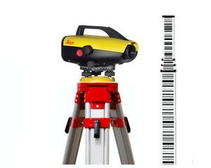 Leica Sprinter 250m Digital Level With 5 meter Bar code Rod Tripod Package