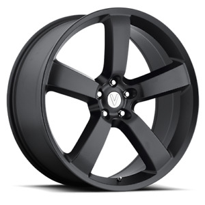 4 New 20x9 20 Voxx Replica Dodge Charger Replica Matte Black Wheel Rim 5x115