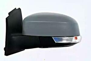 Primed Wing Side Mirror Heated Convex Lh Fits Ford Focus Saloon 1733338