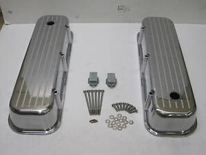 Big Block Tall Chevy Ball Milled Chrome Aluminum Valve Covers 427 454 Nice Look